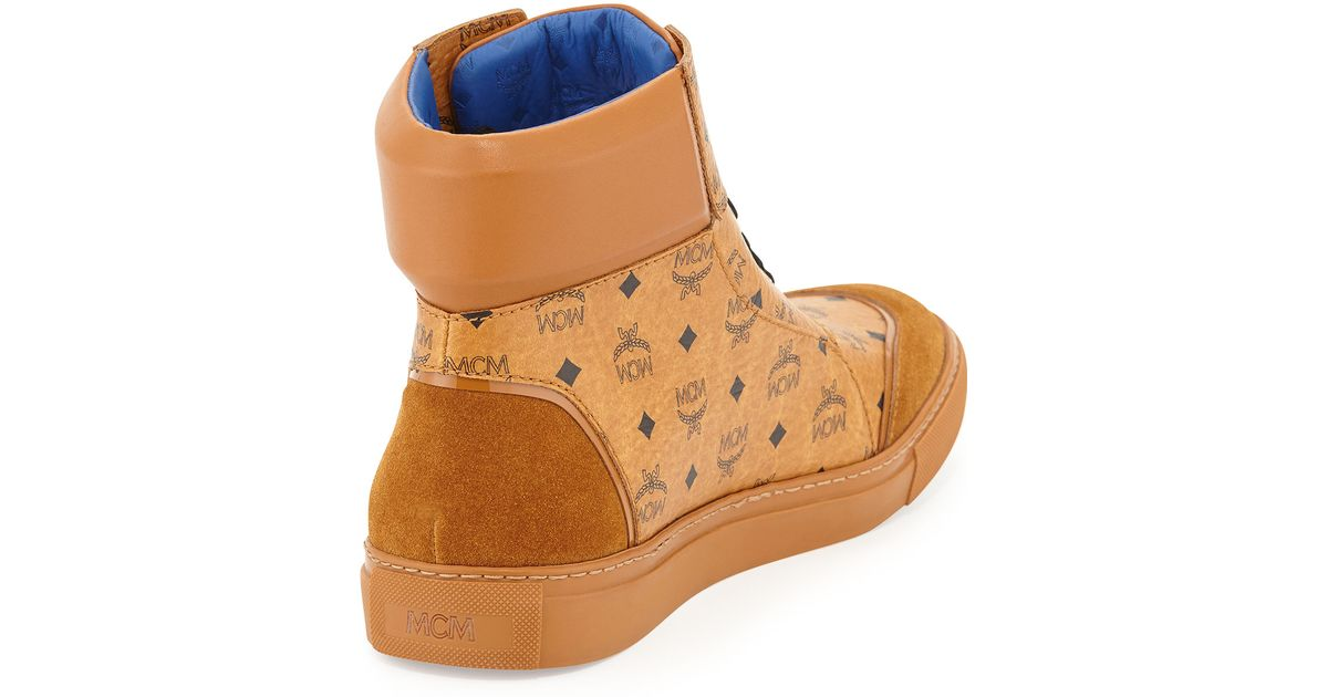 Classic Sneaker Brown High Top Men Mcm Street For AR4jL5