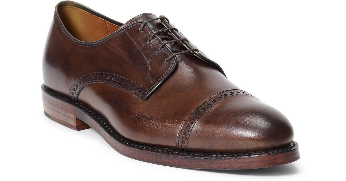 Polo ralph lauren Slaton Burnished Calfskin Shoe in Brown for Men | Lyst