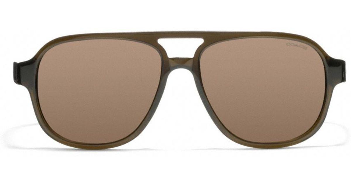 861475656e Lyst - COACH Franklin Sunglasses in Green for Men