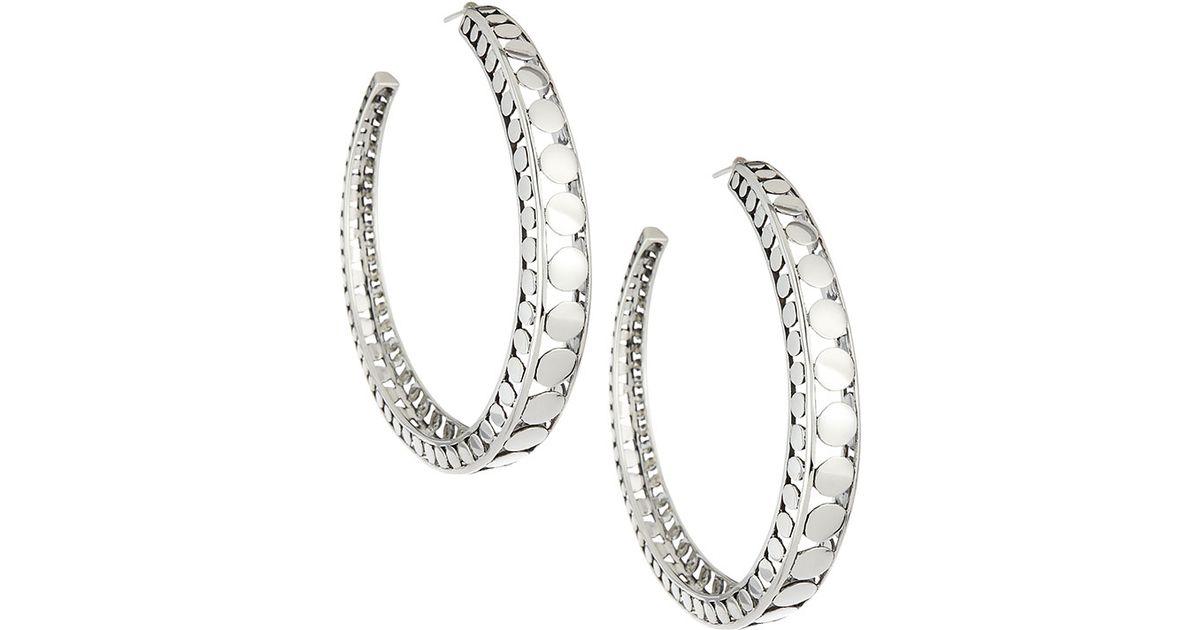 John Hardy Dot Small Round Hoop Earrings BDZz5Slt
