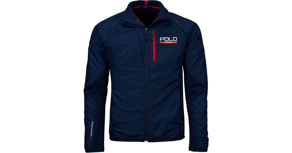 b6decec5 Polo Ralph Lauren Blue Polo Sport Hybrid Tech Jacket for men