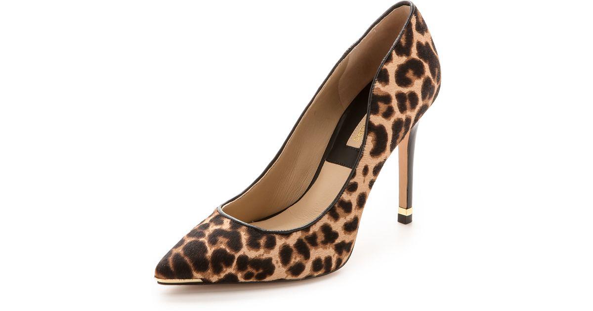 michael kors leopard pumps