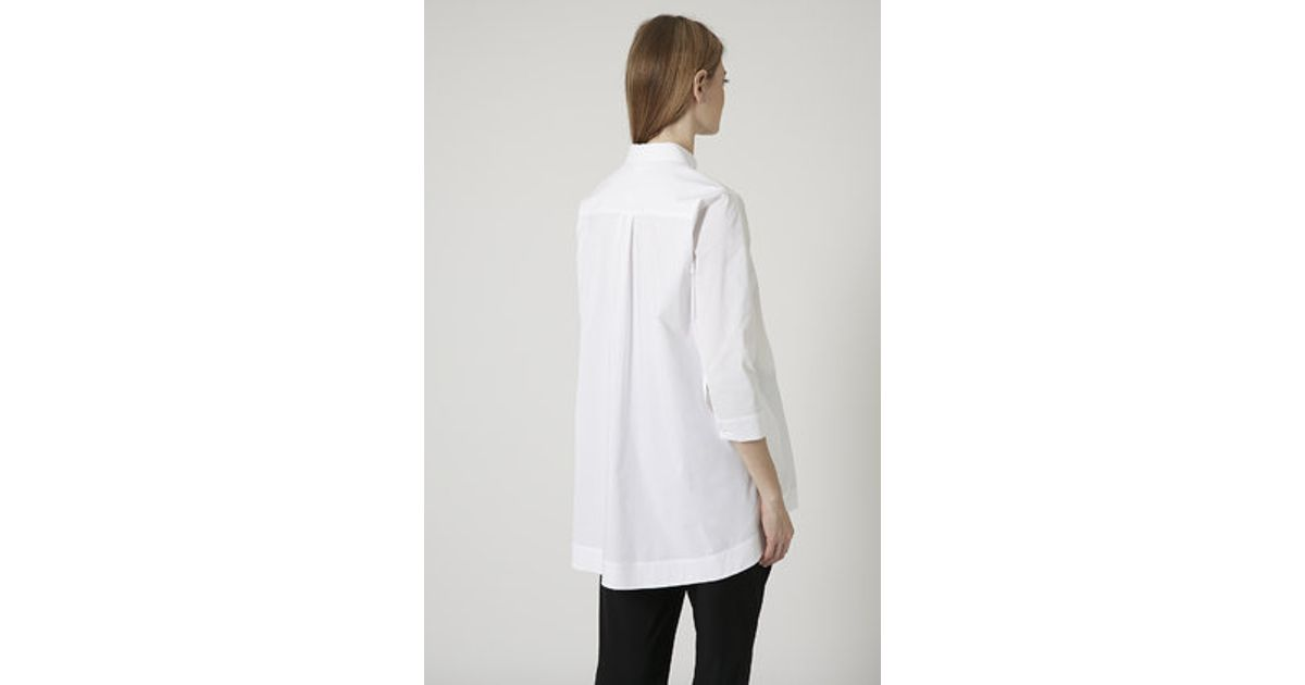 34ca4f90ef2 TOPSHOP Maternity Oversized Cotton Shirt in White - Lyst