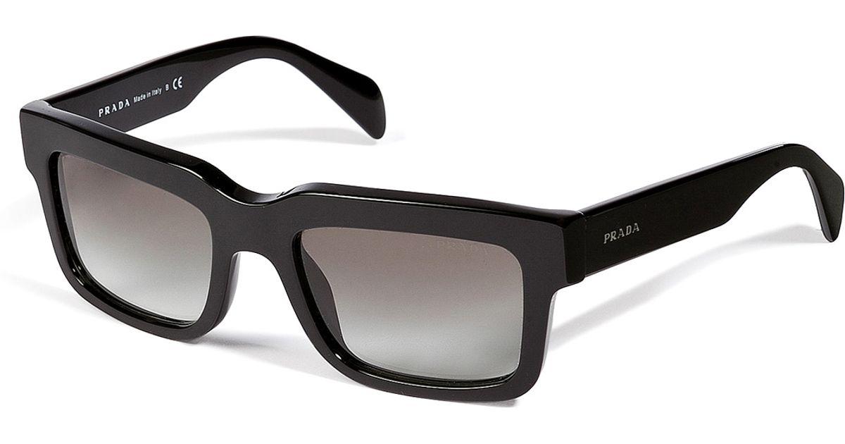 b26b6f4bb official lyst prada square frame gradient sunglasses in black for men 71cba  b93e4