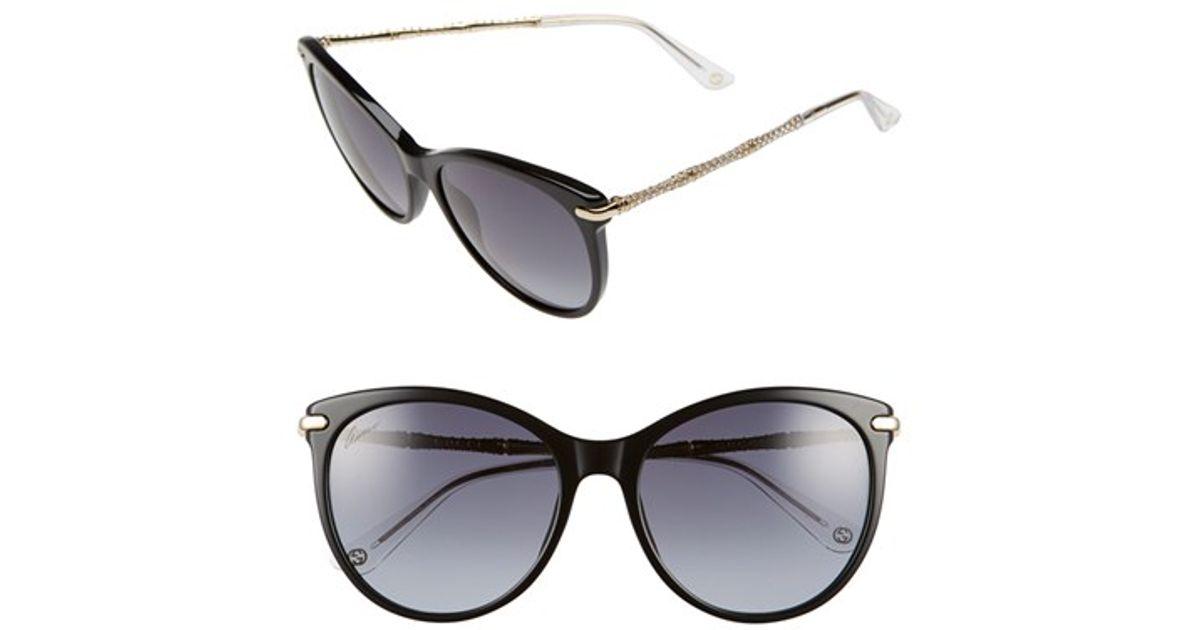0e4a7f3c97 Lyst - Gucci 56mm Swarovski Crystal Sunglasses in Black