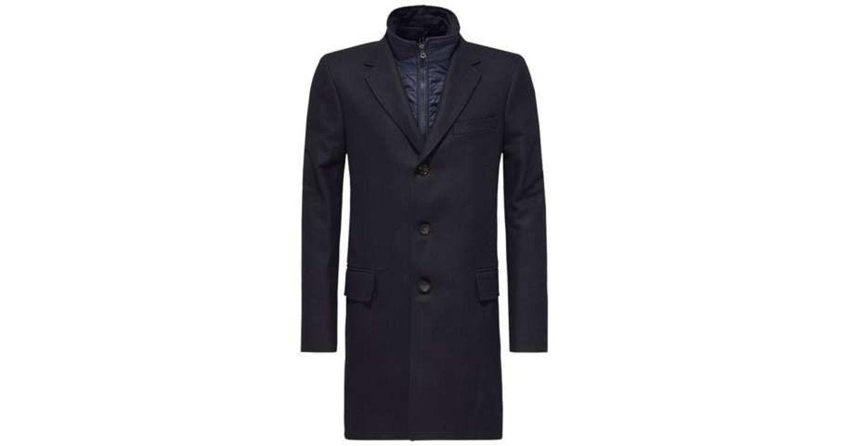 tommy hilfiger canvas chase coat in blue for men lyst. Black Bedroom Furniture Sets. Home Design Ideas