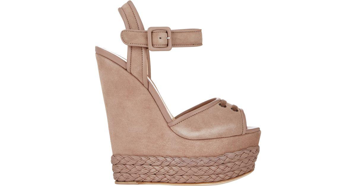09a34fbf1c4 Giuseppe Zanotti Natural Women's Braided Platform-wedge Sandals