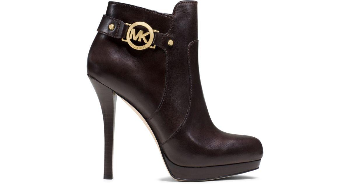 Michael Kors Wyatt Leather Ankle Boot