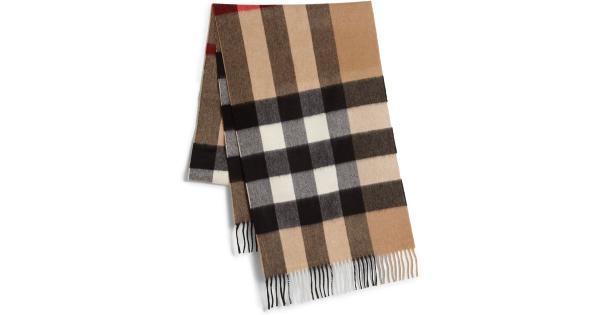 burberry check scarf in for lyst