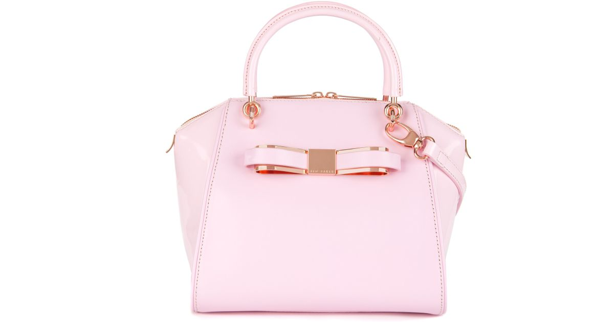 c0c28d645f8156 Ted Baker Leather Tote Bag in Pink - Lyst