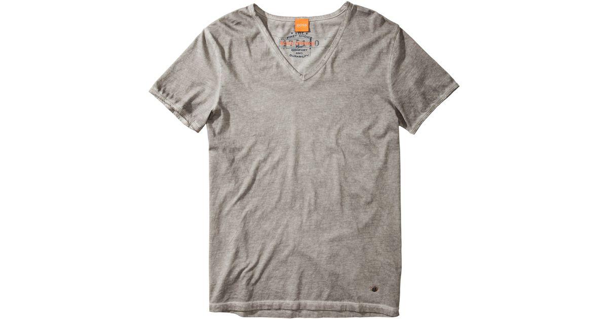 boss orange v neck t shirt