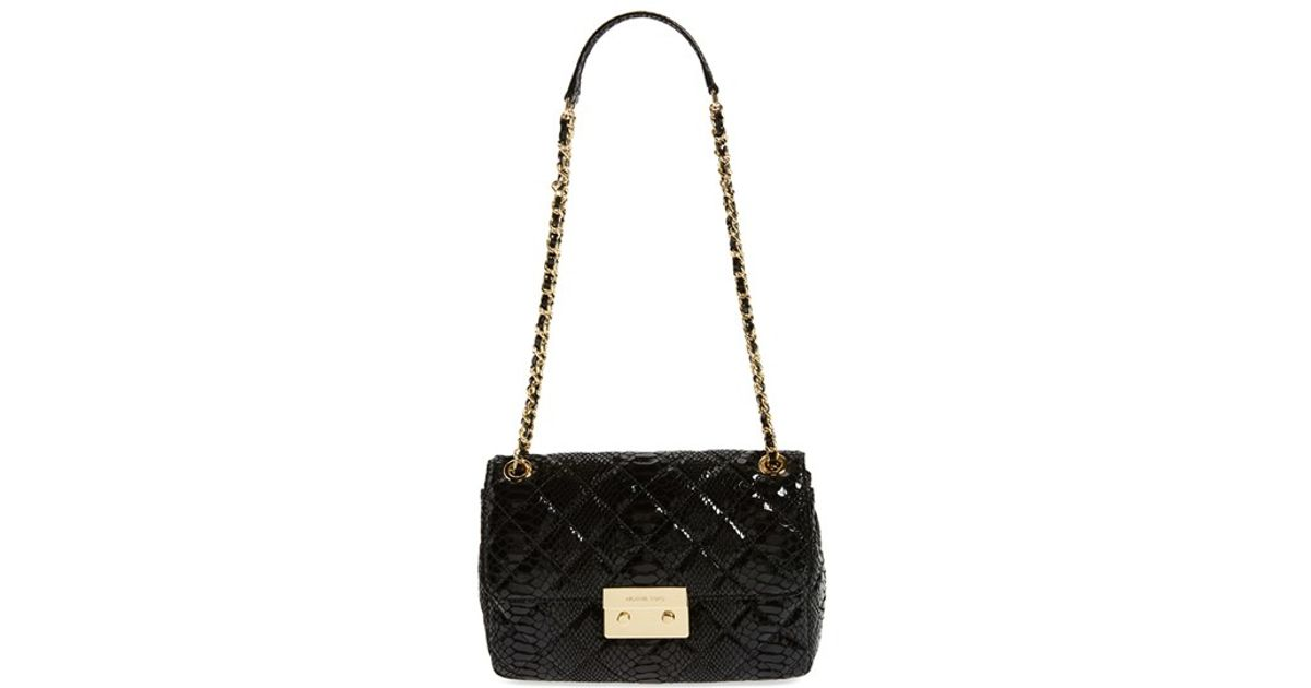 56b41d21d3b4a8 MICHAEL Michael Kors 'large Sloan' Chain Quilted Leather Shoulder Bag in  Black - Lyst
