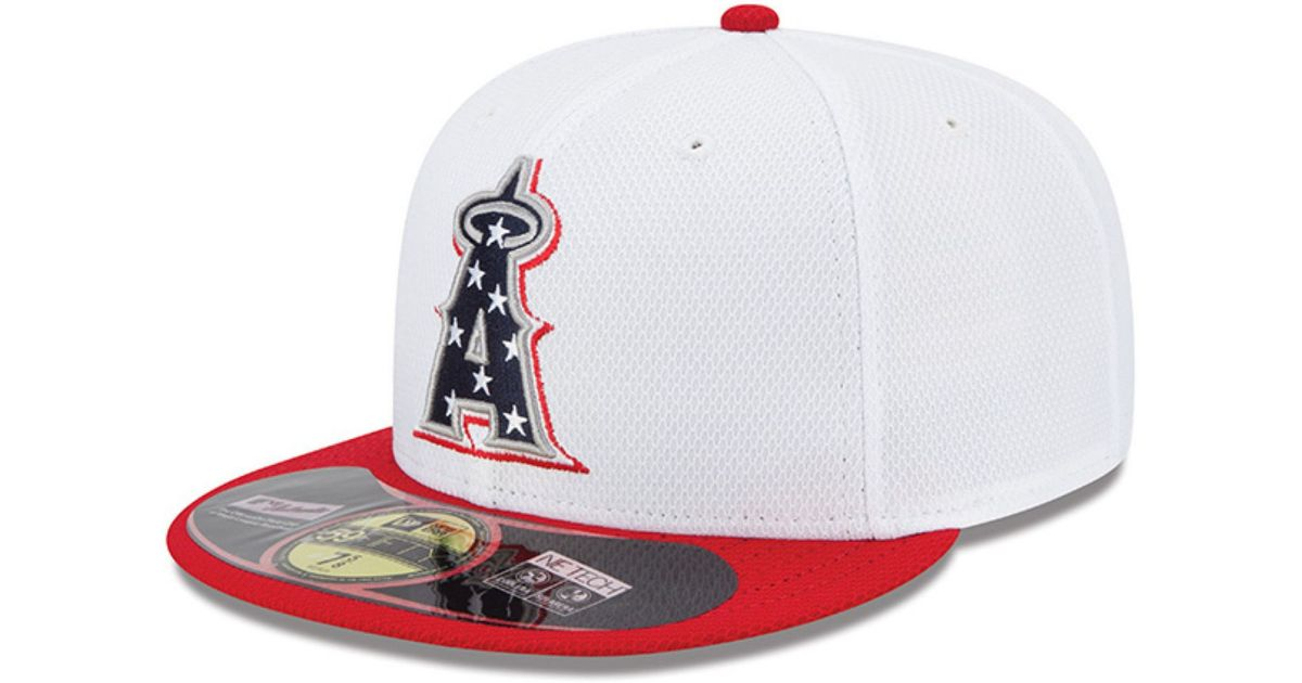 e4edbf68ff0 ... twins cap 2 coupon code for lyst ktz los angeles angels of anaheim mlb july  4th stars stripes 59fifty ...