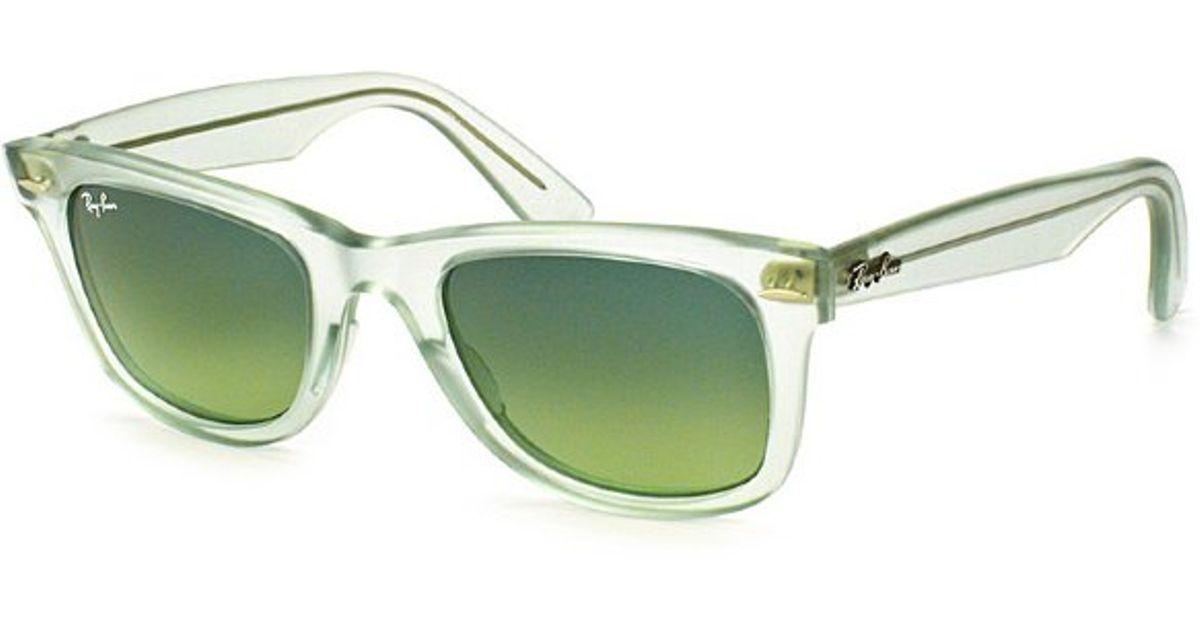 6b1e4c406b ... aliexpress lyst ray ban ray ban rb2140 original wayfarer 60583m green  mint ice pop sunglasses green