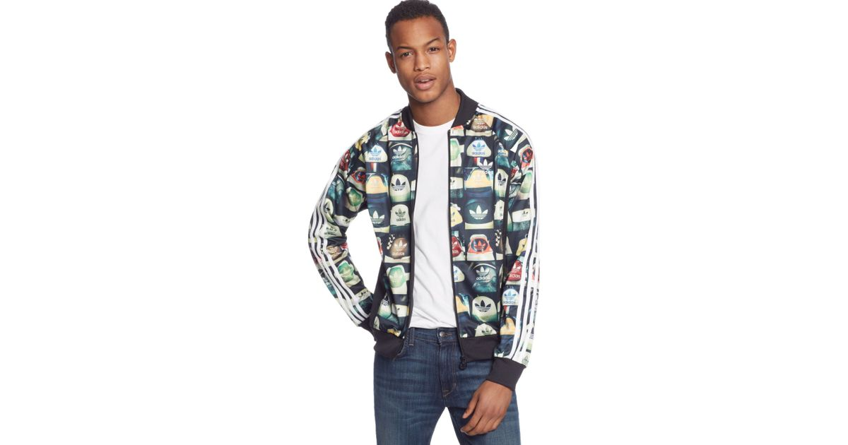 Multicolor, adidas Originals Womens All Over Print Track Top Outerwear