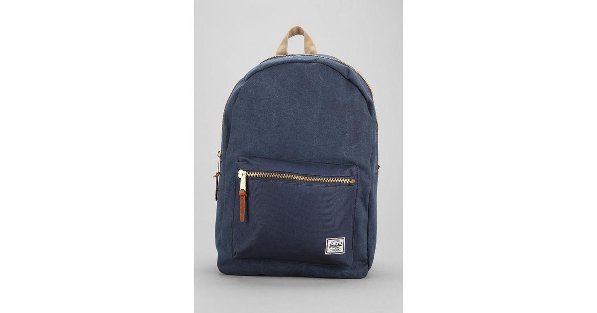 da85c56e8a3b Lyst - Herschel Supply Co. Settlement Cotton Canvas Backpack in Blue for Men