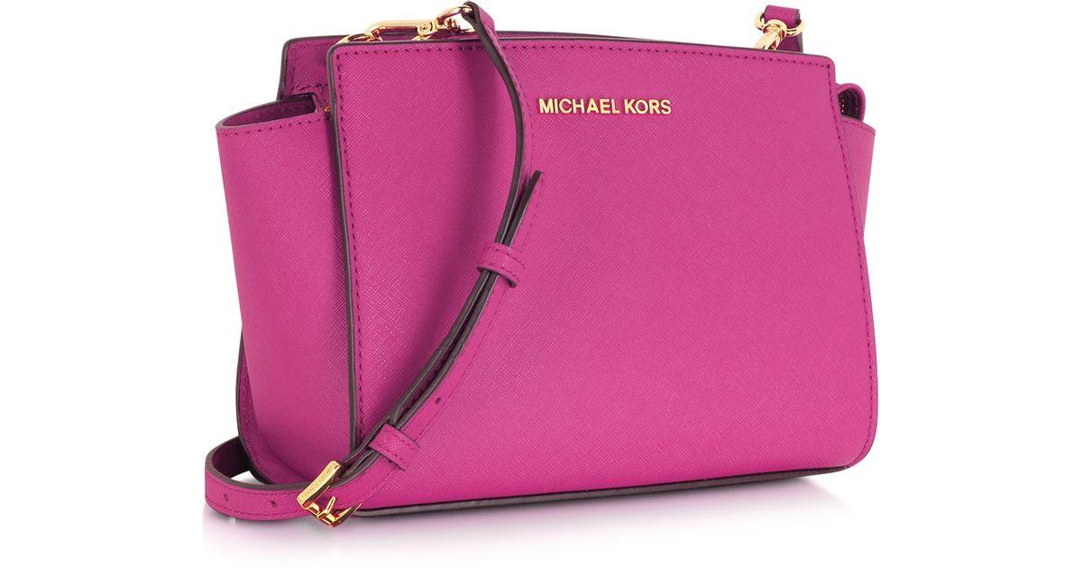 Michael Kors Selma Medium Laukku : Michael kors selma medium saffiano leather messenger bag