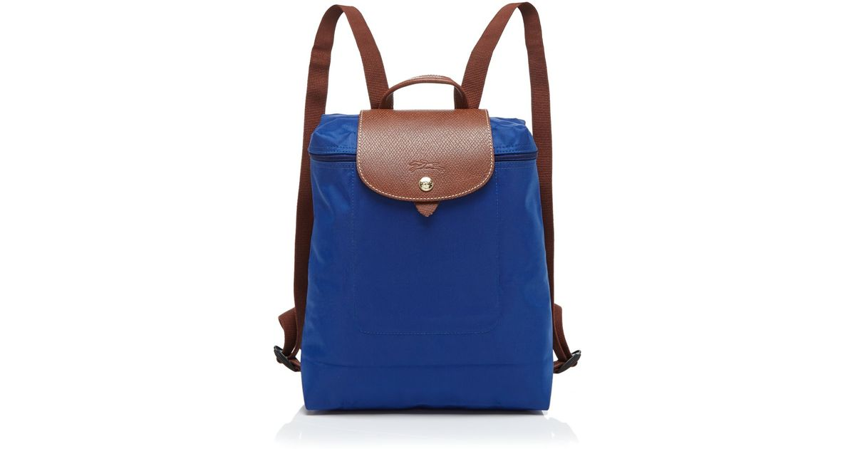 2014 New Portable Longchamp Le Pliage Backpack Navy