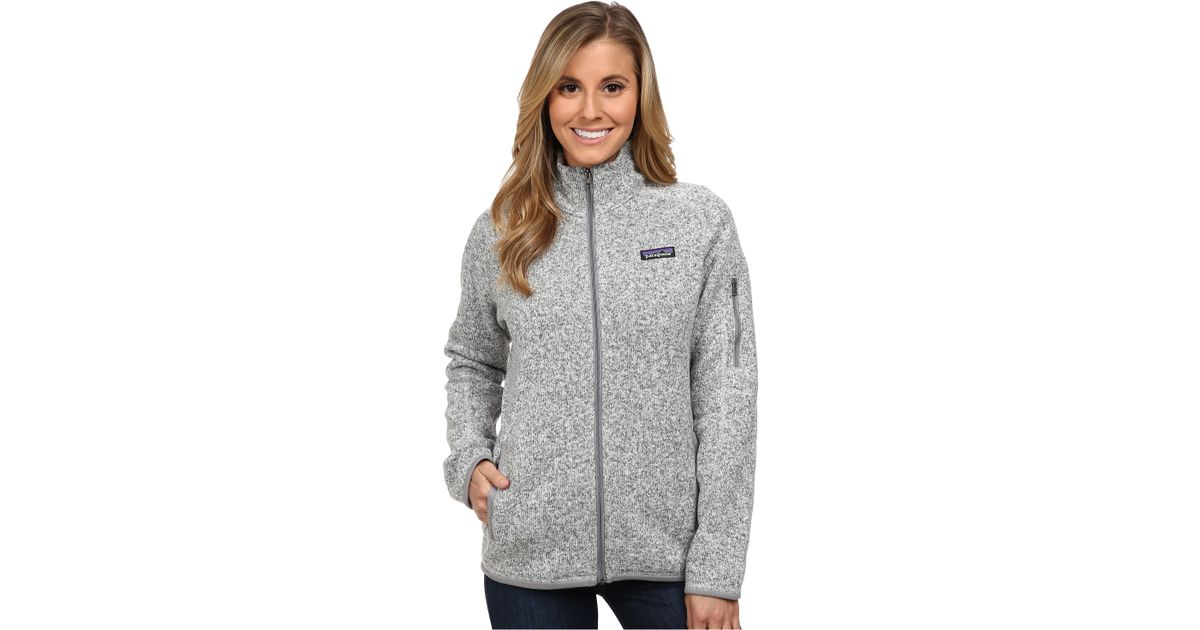 Patagonia Better Sweater Jacket In White Birch White Lyst