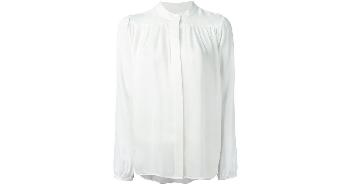 11258e5dc8650 Lyst - MICHAEL Michael Kors Silk Blouse in White