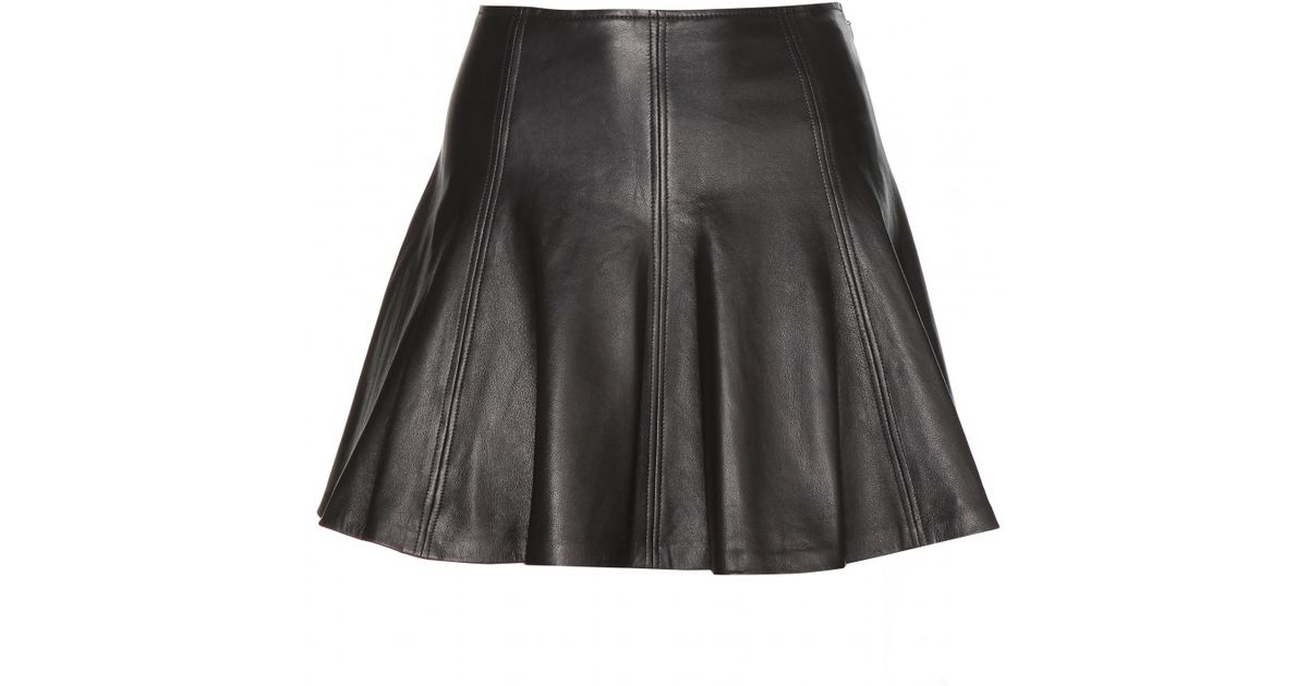 2019 authentic latest style hot-selling real Polo Ralph Lauren Black Leather Skater Skirt