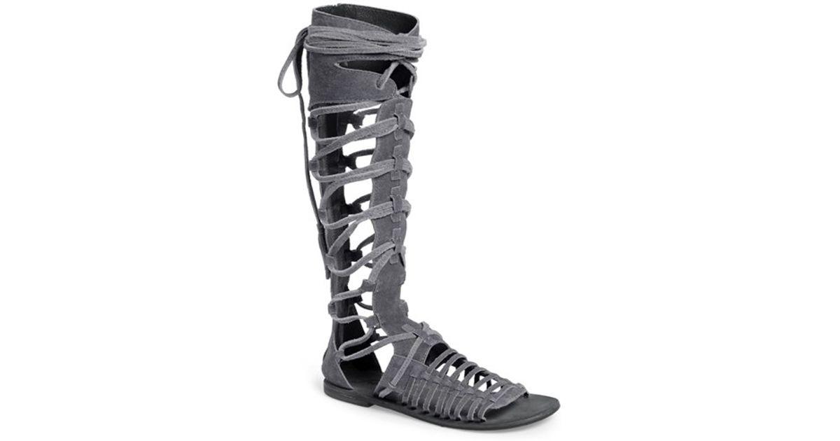 cd3ce7a7dae Lyst - Free People  sun Seeker  Tall Gladiator Sandal in Gray