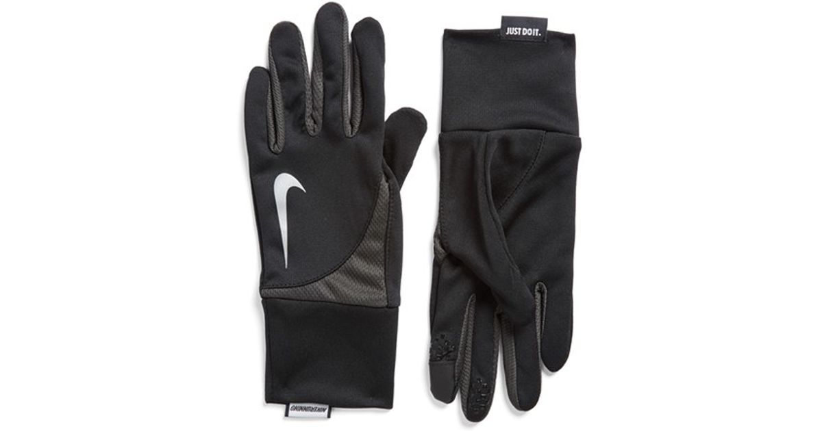 83489125b7 Lyst - Nike 'tailwind' Dri-fit Tech Running Gloves in Black for Men