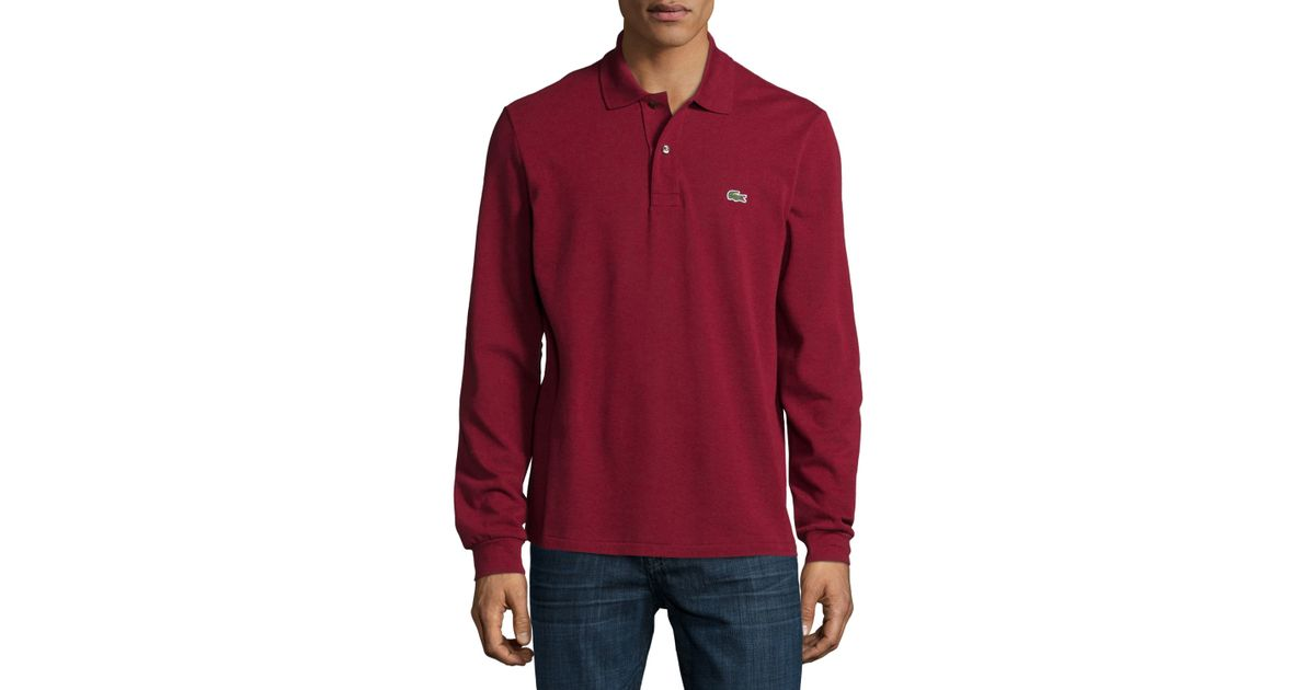 Sleeve Pique Polo Red Lacoste Classic For Long Men ZiOPuTwXlk