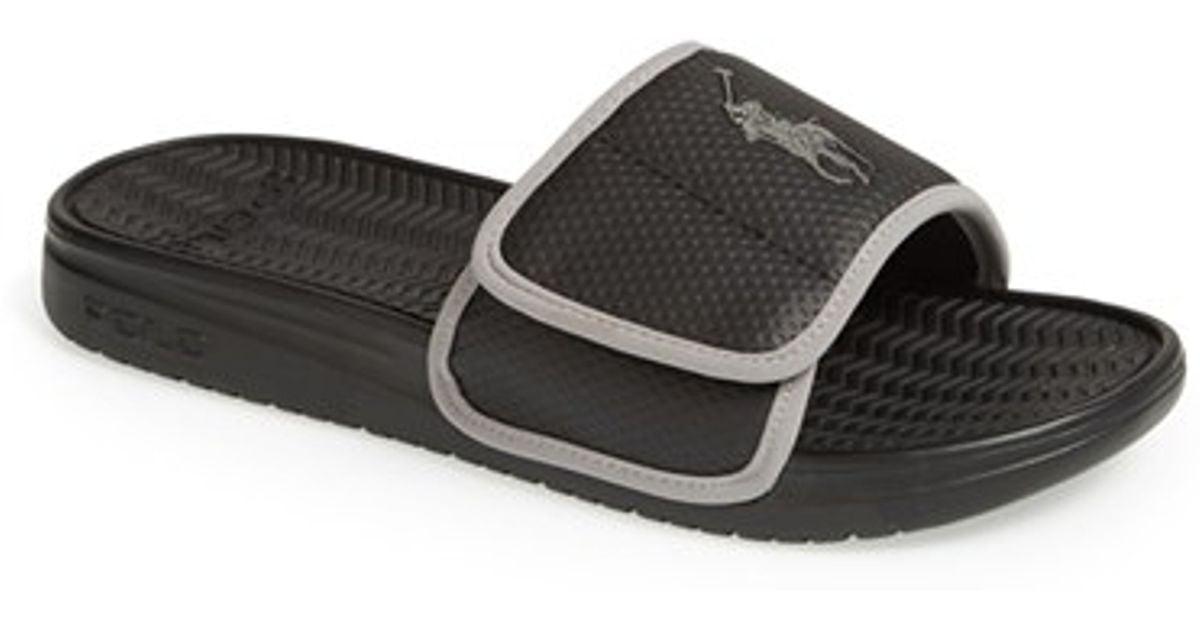 51054cea489a Lyst - Polo Ralph Lauren  romsey  Slide Sandal in Black for Men