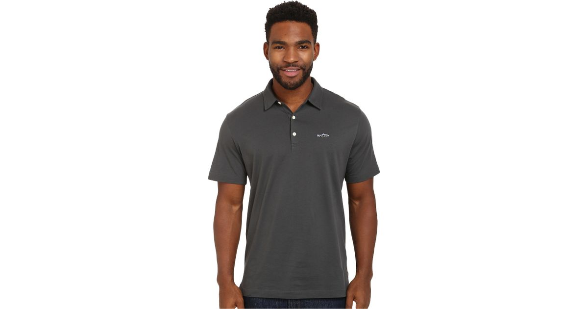8c89d744 Patagonia Trout Fitz Roy Polo in Gray for Men - Lyst