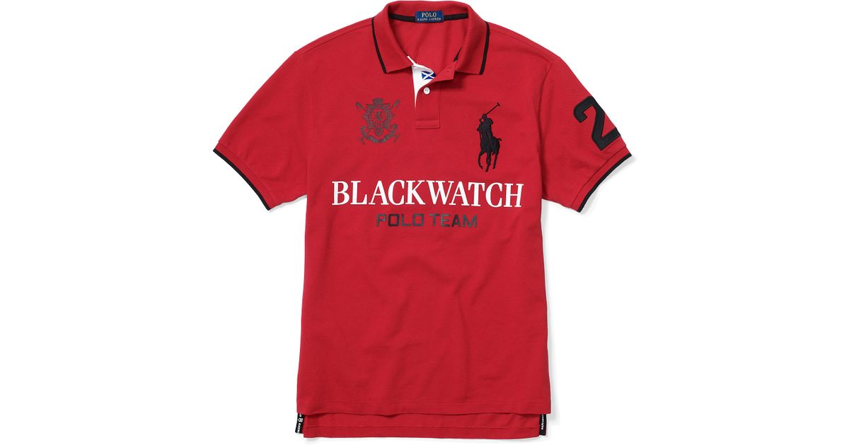Fit Ralph Red Men Blackwatch For Lauren Polo Custom SUVzMqp