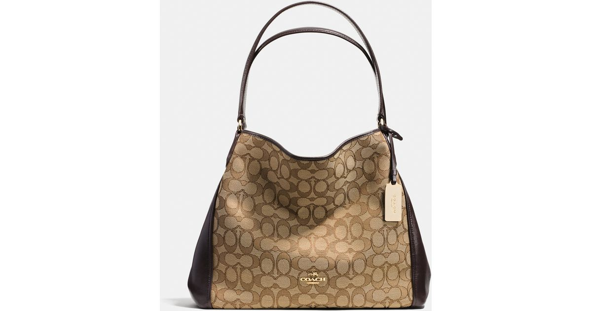8febd83be3 Lyst - COACH Edie Shoulder Bag 31 In Signature Jacquard