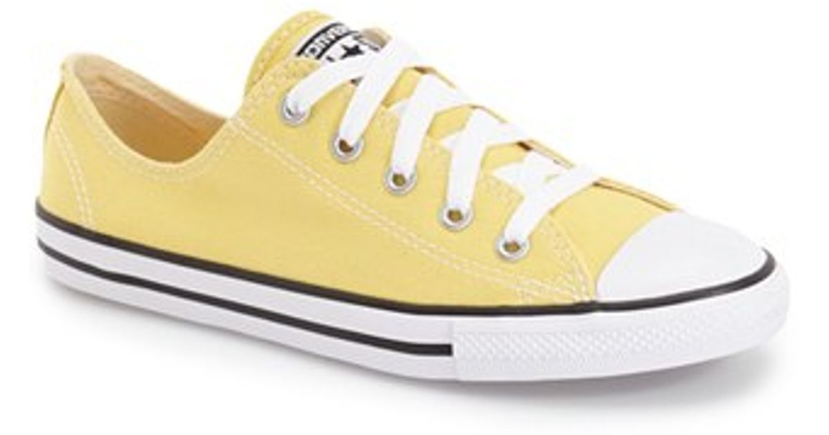 3751eb4a3464 Lyst - Converse  seasonal Dainty  Chuck Taylor All Star Low Top Sneaker in  Yellow