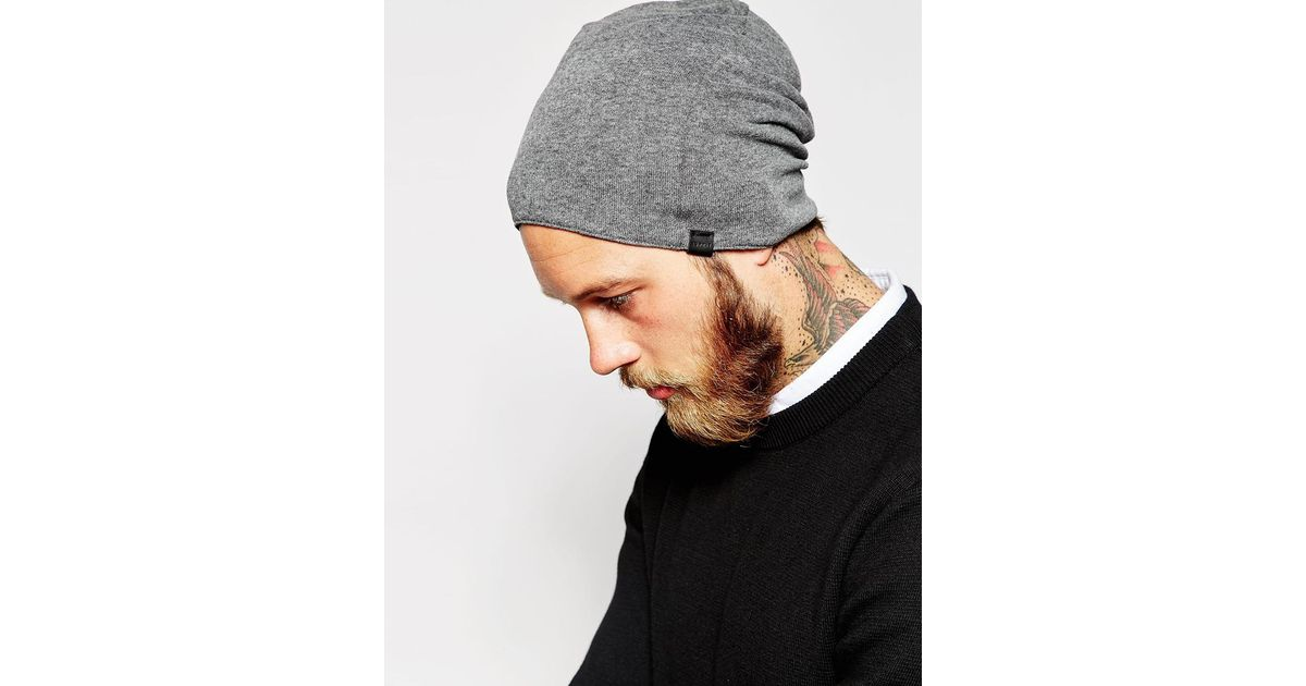 Lyst - Esprit Reversible Lightweight Beanie in Gray for Men f9dee6984da