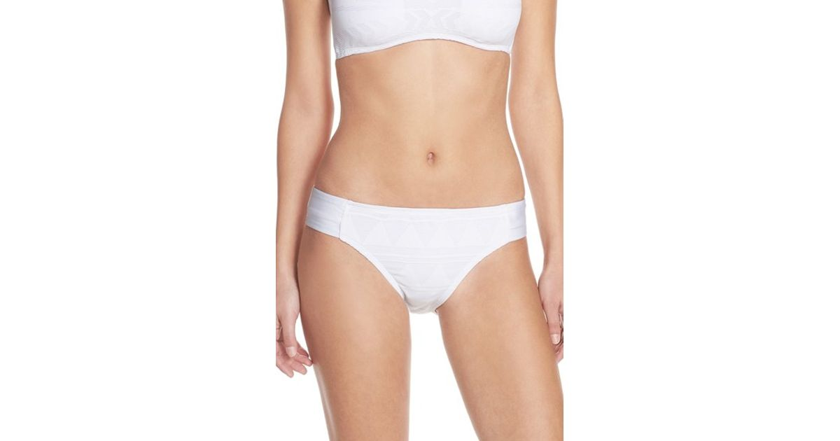 4853931bd44 Lyst - Kenneth Cole 'deco The Distance' Bikini Bottoms in White