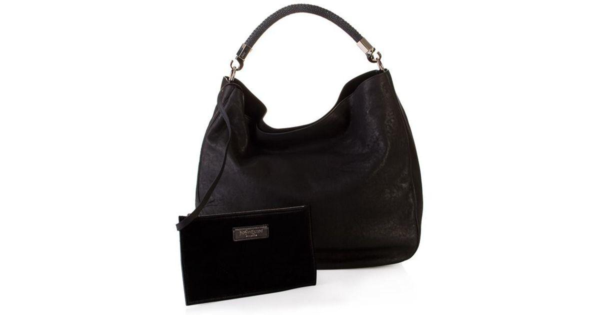 Saint laurent Roady Hobo Bag in Black (ebony) | Lyst