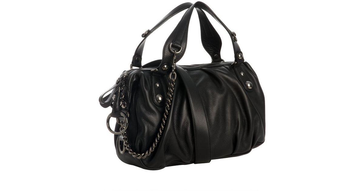 483aae6af3e Gucci Black Leather Icon Bit Medium Boston Bag in Black - Lyst