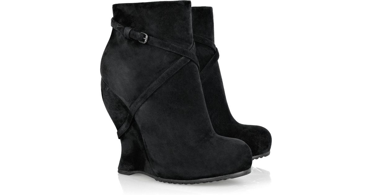 Bottega Veneta Suede Wedge Booties how much sale online fake sale online discount outlet discount fashion Style 14mwgHu