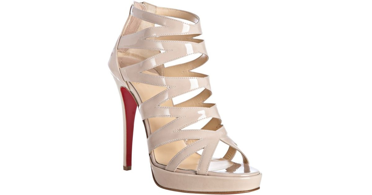 44df97105a42 ... norway lyst christian louboutin fernando 120 patent leather sandals in  white 90458 8ab34