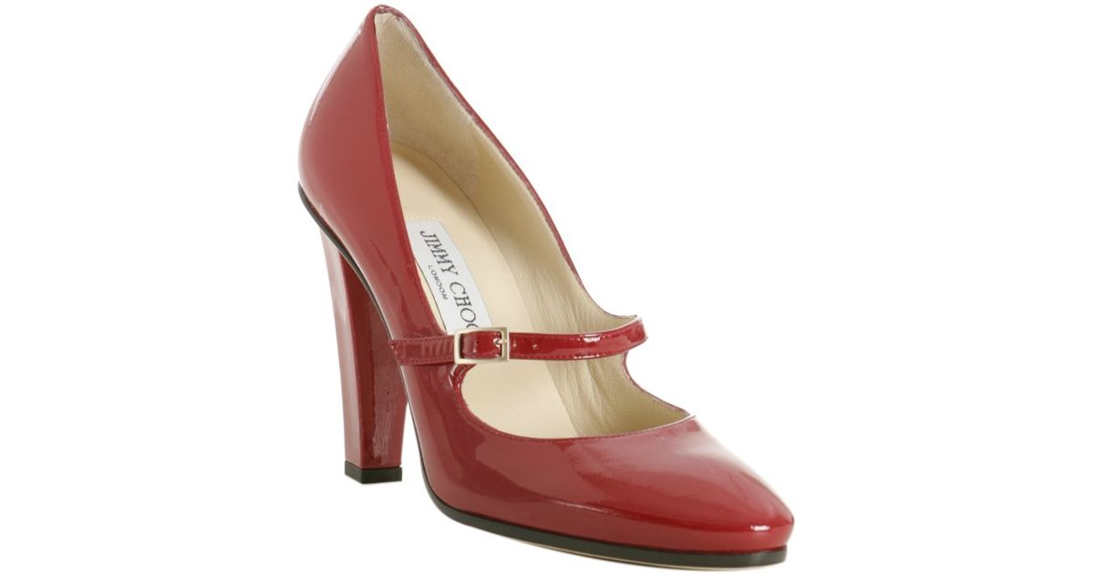 Lyst - Jimmy choo Red Patent Leather Kindlepa Mary Jane Pumps in Red
