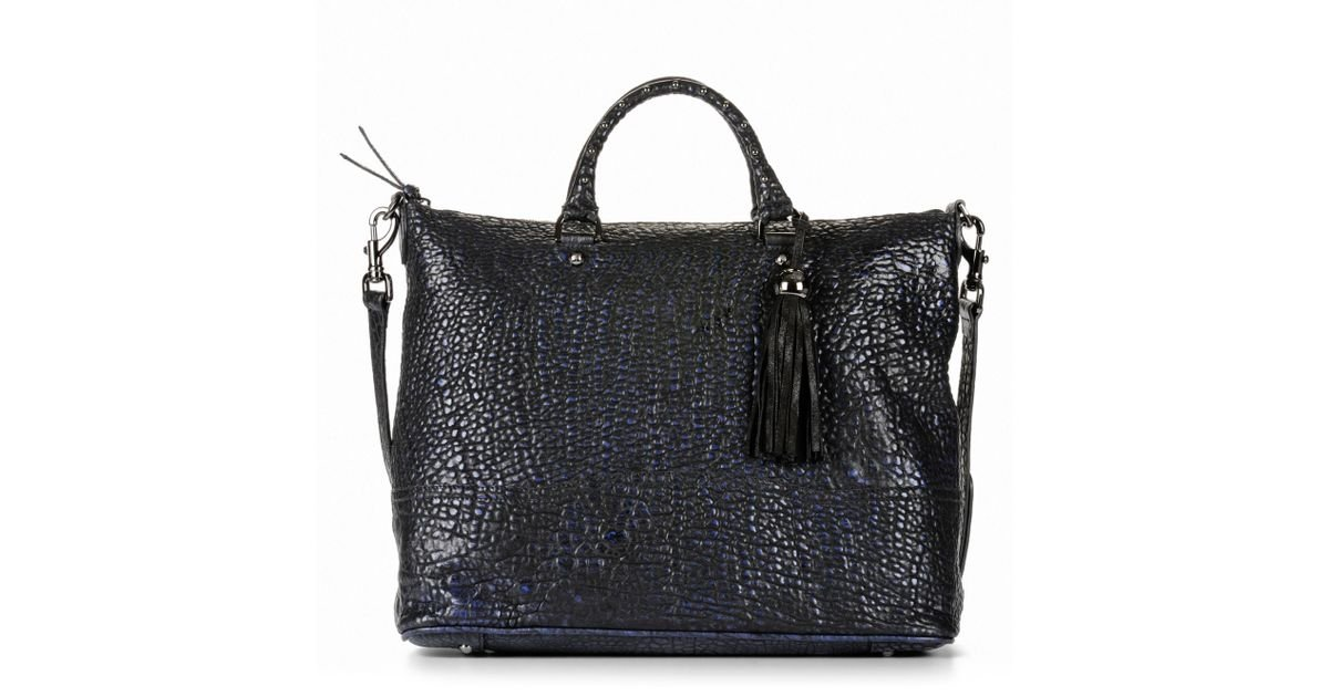 Mulberry Greta Two-tone Leather Tote in Blue - Lyst b968a092a07f6