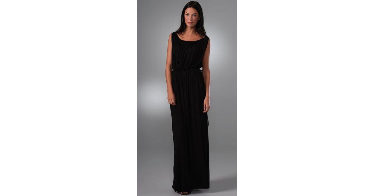 Lyst Rachel Pally Grecian Long Dress In Black