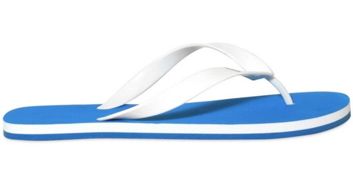 Y-3 Y3 Rubber Flip Flop Sandals in Blue