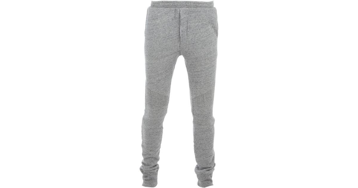 7c559d5265e Balmain Slim Fitting Tracksuit Bottoms in Gray for Men - Lyst