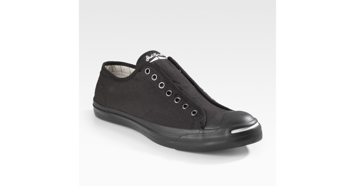Converse Jack Purcell Slip On in Black