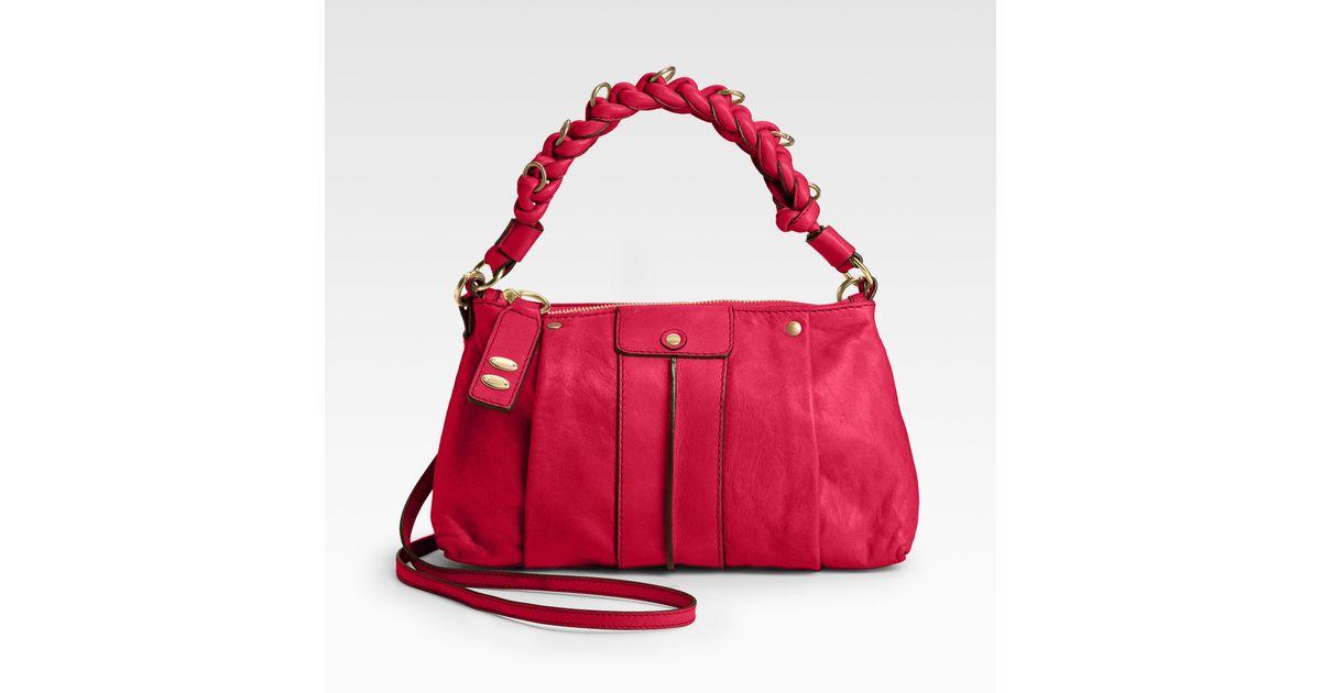 1429c97dd0 Chloé Heloise Leather Crossbody Bag in Red - Lyst