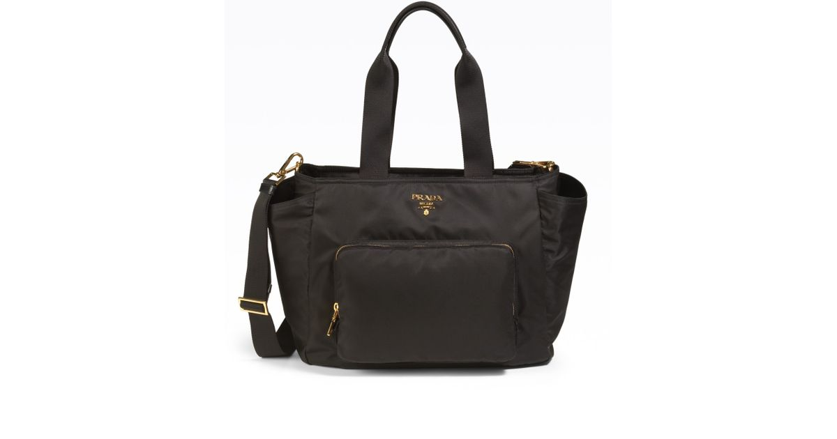 d2be6d73e4f0 ... coupon code for lyst prada nylon baby bag in black 3d627 2927f