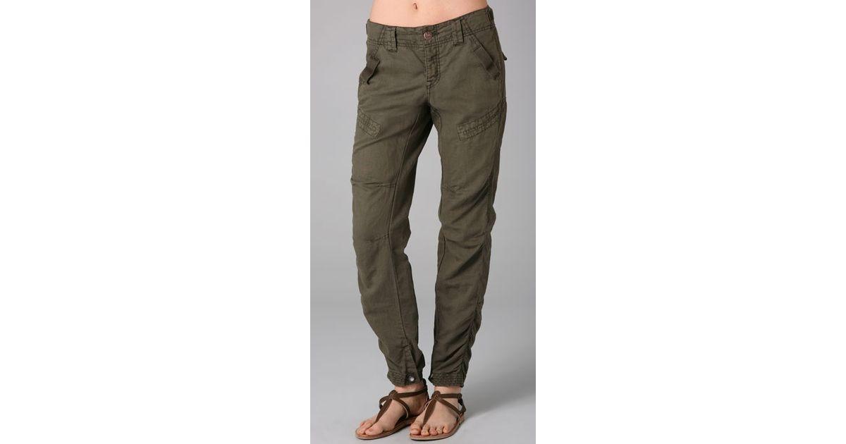 Free People Benjis Utility Pants In Army Green Lyst
