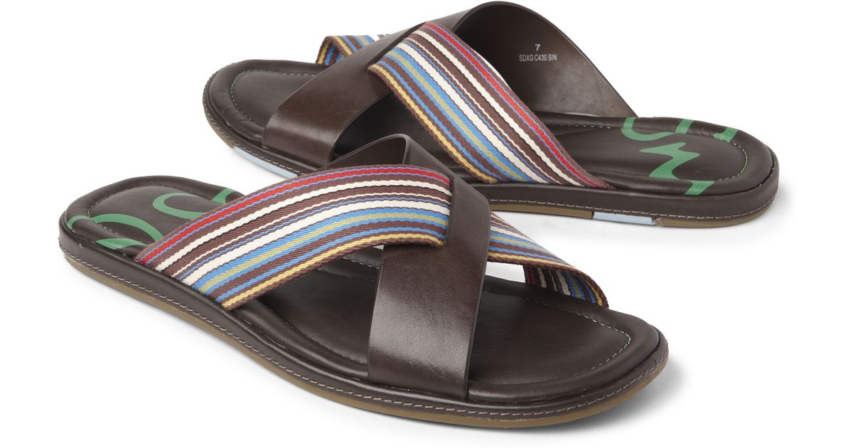 794c65391bad Paul Smith Swami Sandals in Brown for Men - Lyst
