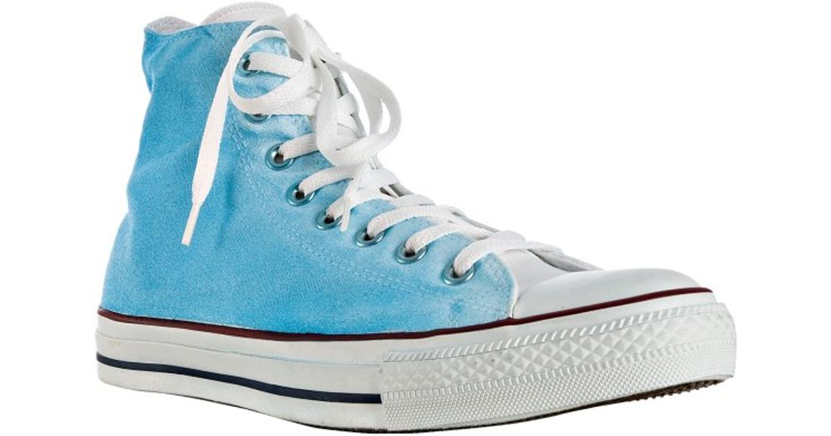 c82460e30c0e ... best price discount lyst converse sky blue watercolor canvas high top  sneakers in blue for men